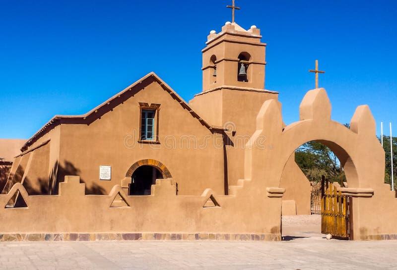 Stary kościół, San Pedro De Atacama przy Atacama pustynią, Chile zdjęcia stock