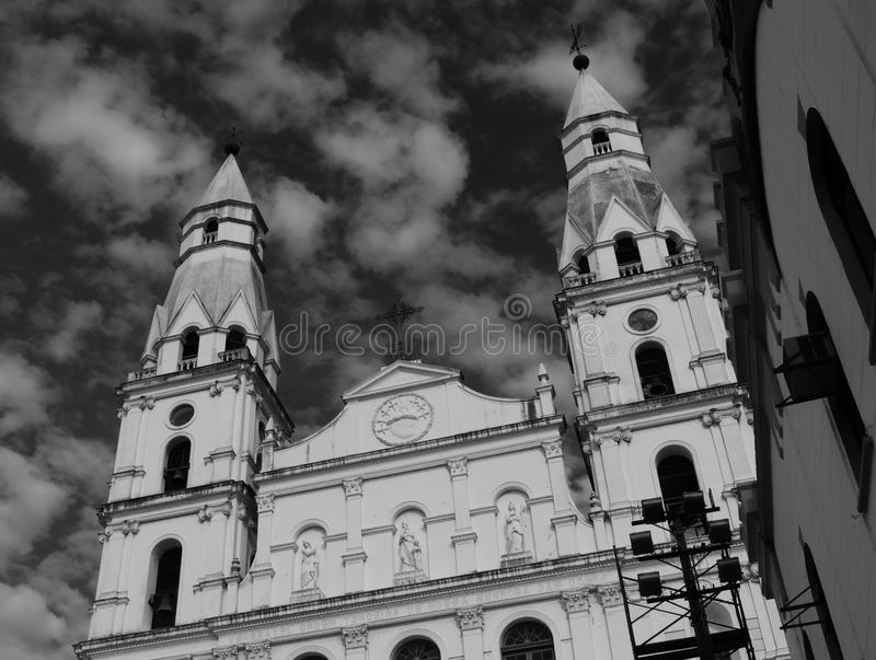 Stary kościół w Porto Alegre obrazy royalty free