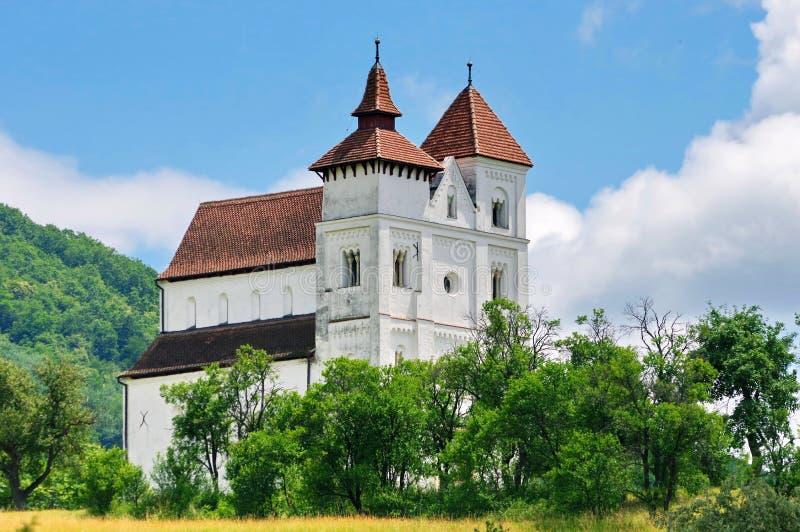 Stary kościół z pięknym niebem w tle obraz stock