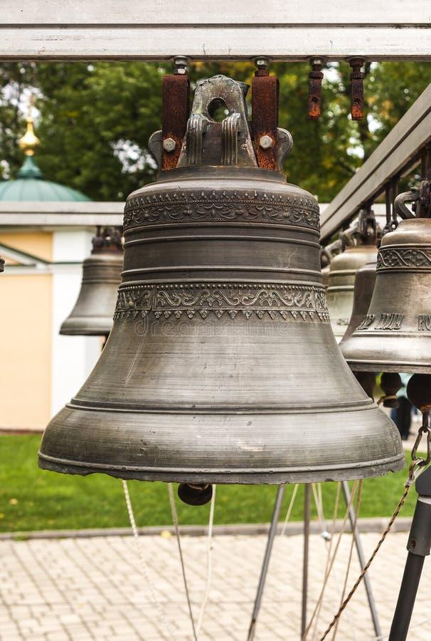 Stary kościelny dzwon yaroslavl Federacja Rosyjska 2017 fotografia royalty free