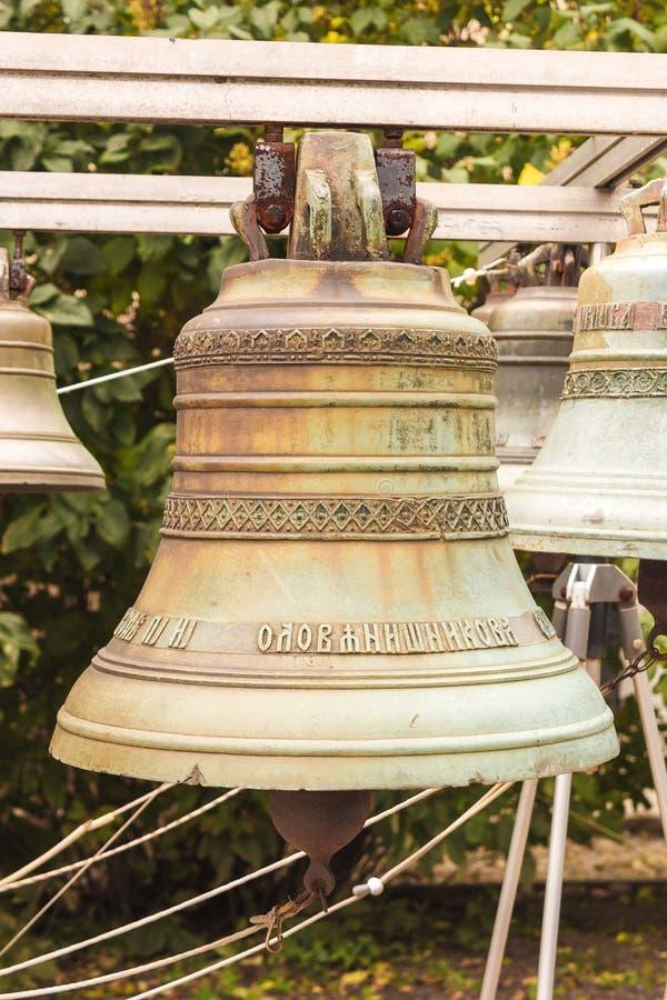 Stary kościelny dzwon yaroslavl Federacja Rosyjska 2017 zdjęcie royalty free