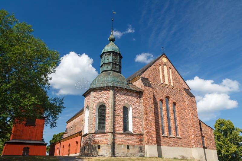 Stary kościelny należenie kasztel Skokloster zdjęcie royalty free