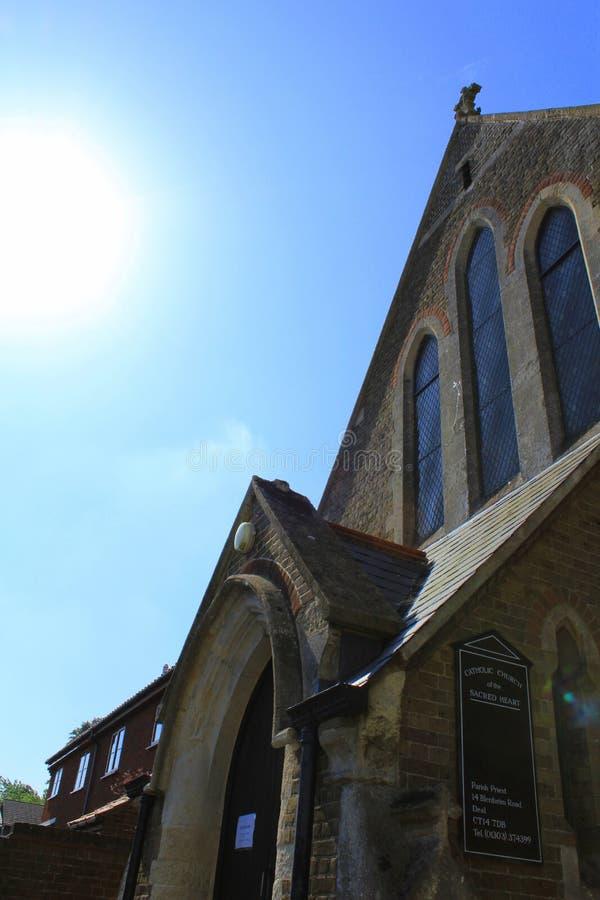 Stary kościelny Walmer Kent UK obraz stock