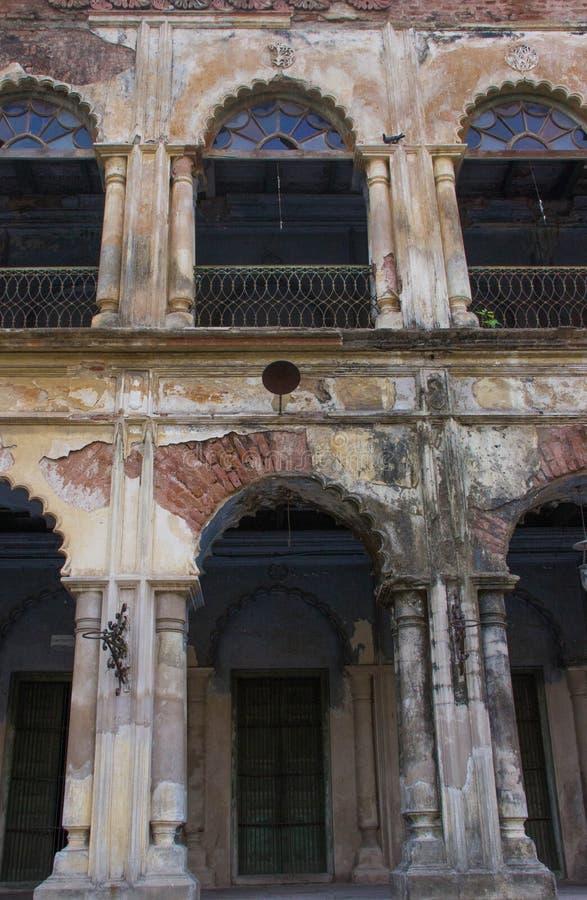 Stary Kolonialny budynek w Wschodnim India zdjęcia stock