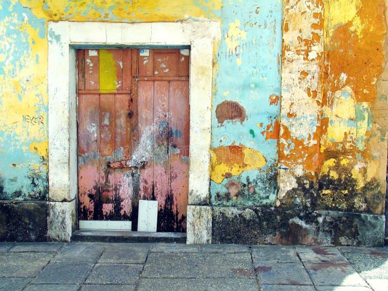 stary kolor drzwi obrazy stock