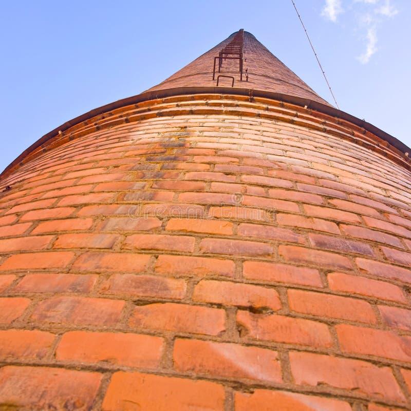 Stary komin w Norrkoping obraz royalty free
