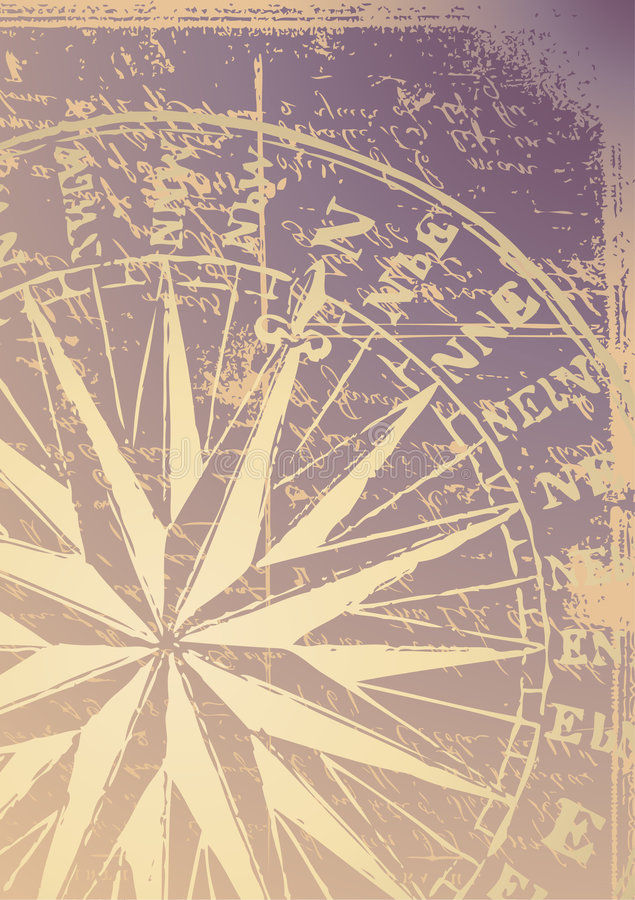 stary kompas. royalty ilustracja