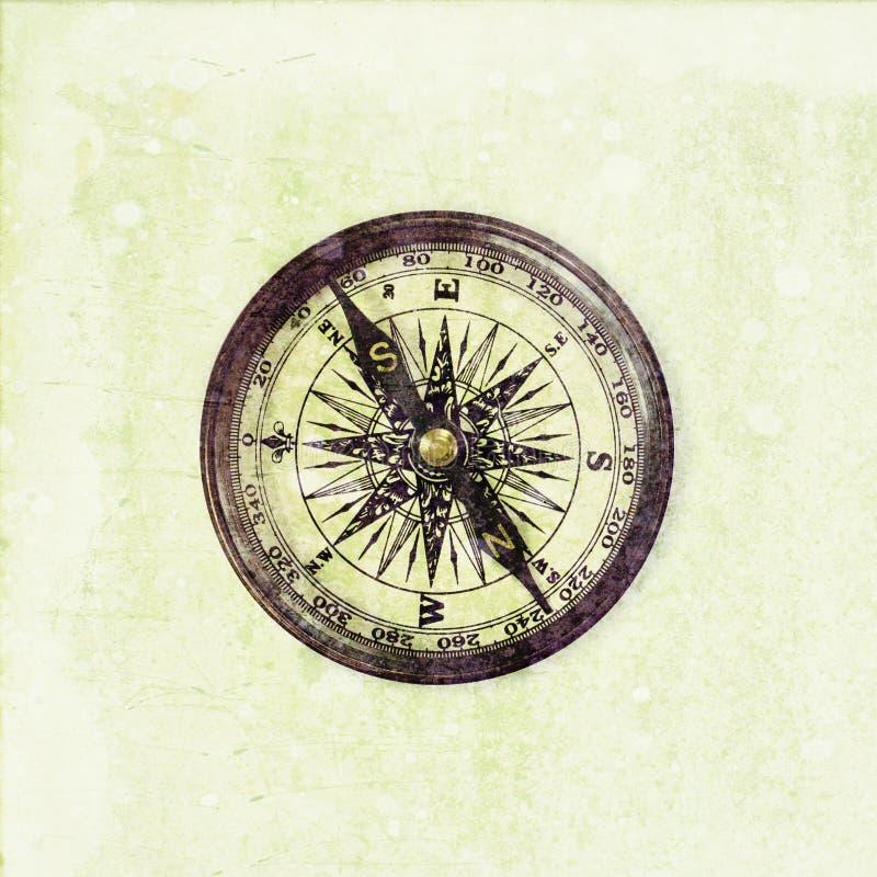 Stary kompas na podławym tle zdjęcia royalty free