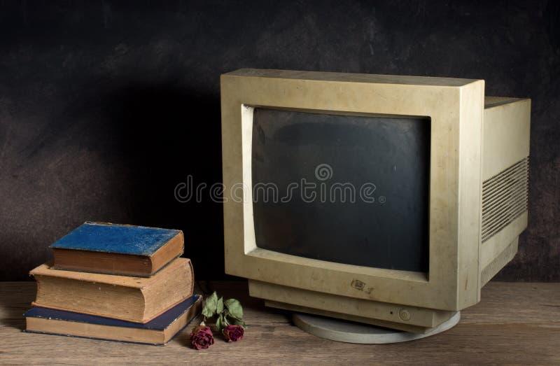 Stary komputerowy monitor fotografia royalty free