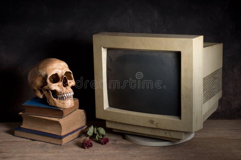 Stary komputerowy monitor obraz royalty free