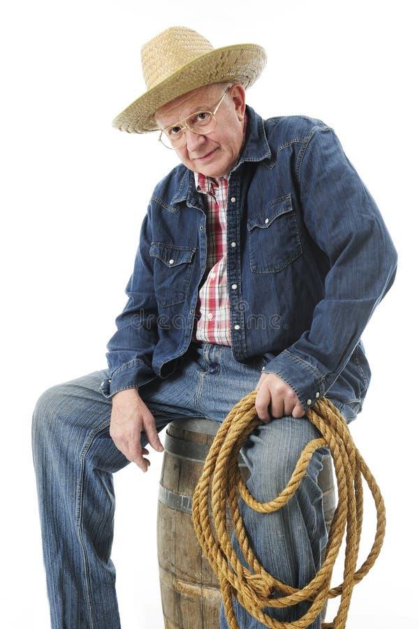 Stary kowboj Bierze przerwę fotografia stock