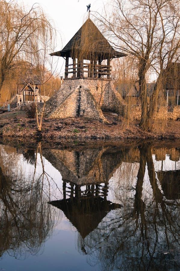 Stary Kozacki forteca w lokalnym parku obraz royalty free
