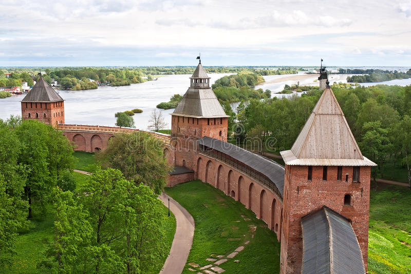 stary Kremlin novgorod góruje zdjęcie royalty free