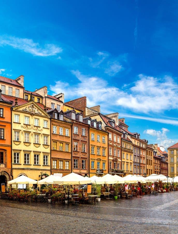 stary kwadratowego miasto Warsaw obrazy stock