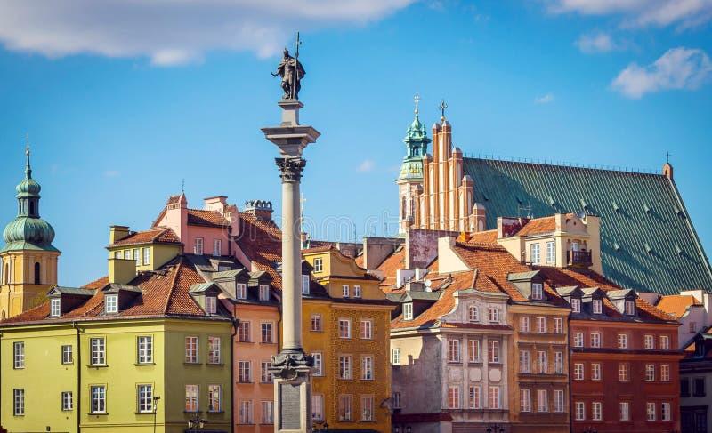 stary kwadratowego miasto Warsaw zdjęcie stock