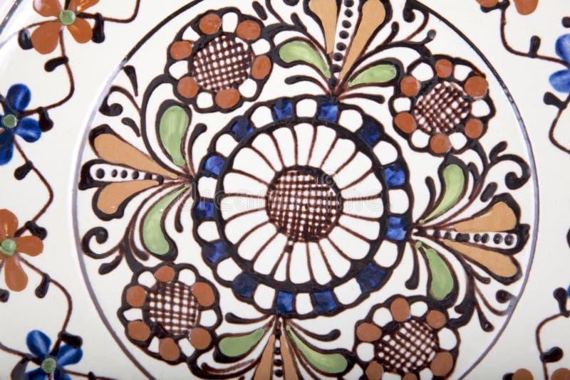 Stary kwiecisty ceramiczny obrazy royalty free