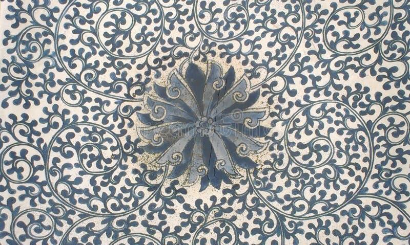 Stary kwiecisty tekstura wzoru Chinaware fotografia royalty free