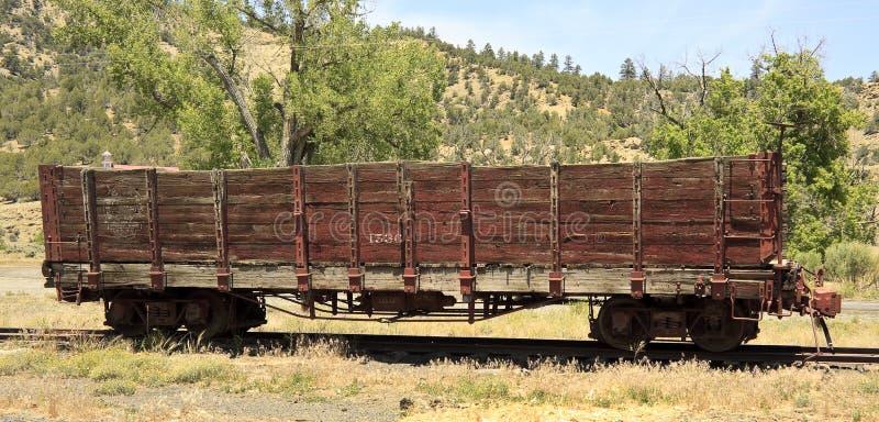 Stary linia kolejowa skakacza samochód zdjęcie stock