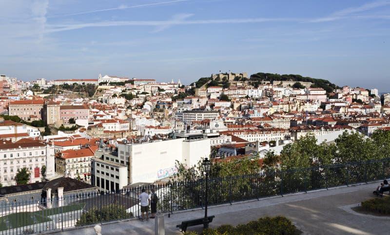 Stary Lisbon i świętego George kasztel obraz royalty free