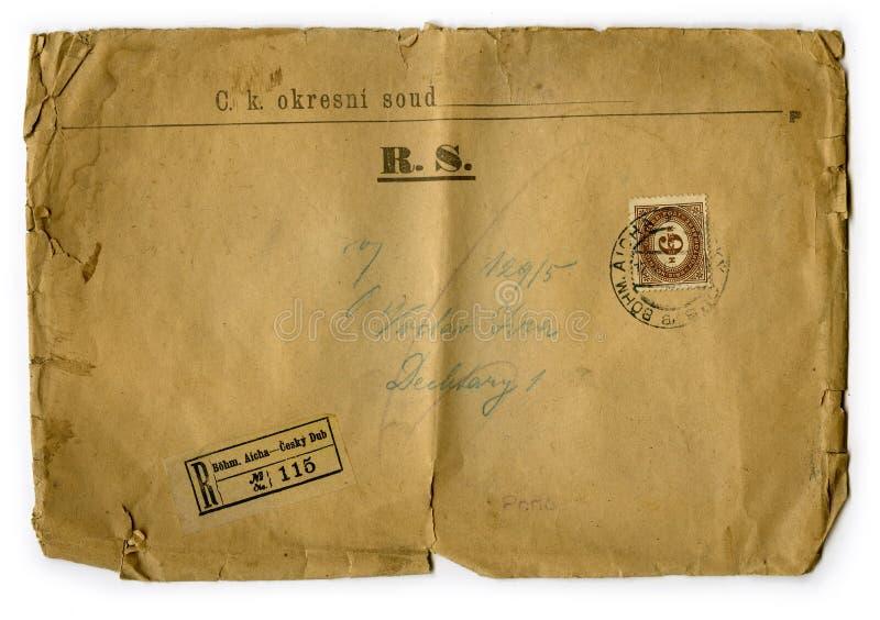 Stary list 1870, republika czech ilustracja wektor