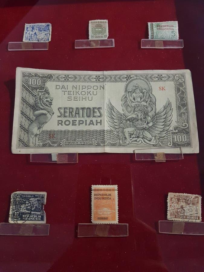 Stary lndonesian pieniądze obrazy royalty free