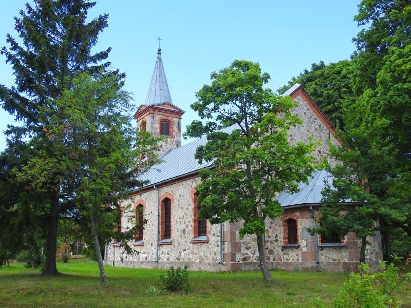 Stary lutheran kościół, Latvia obraz royalty free