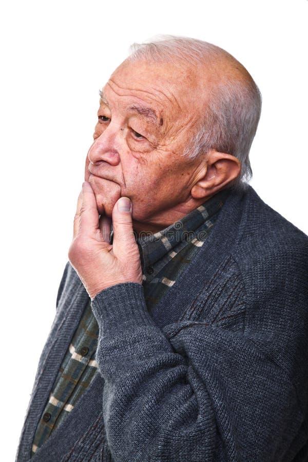 stary mężczyzna główkowanie obrazy stock