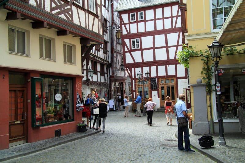 Stary mały miasto Bernkastel Kues w Niemcy zdjęcie stock