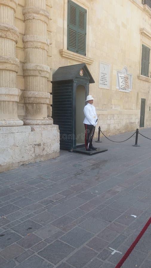Stary Malta valetta grodzki strażnik zdjęcie royalty free
