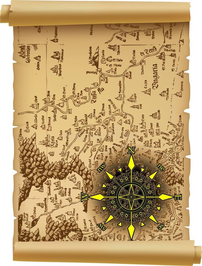 stary mapa wektor
