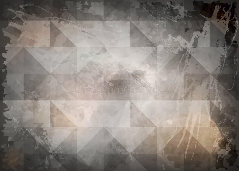 Stary marmuru kamień taflował podłoga, Abstrakcjonistyczny czarny tło z narysami Rocznika grunge tła tekstury elegancki monochrom ilustracji