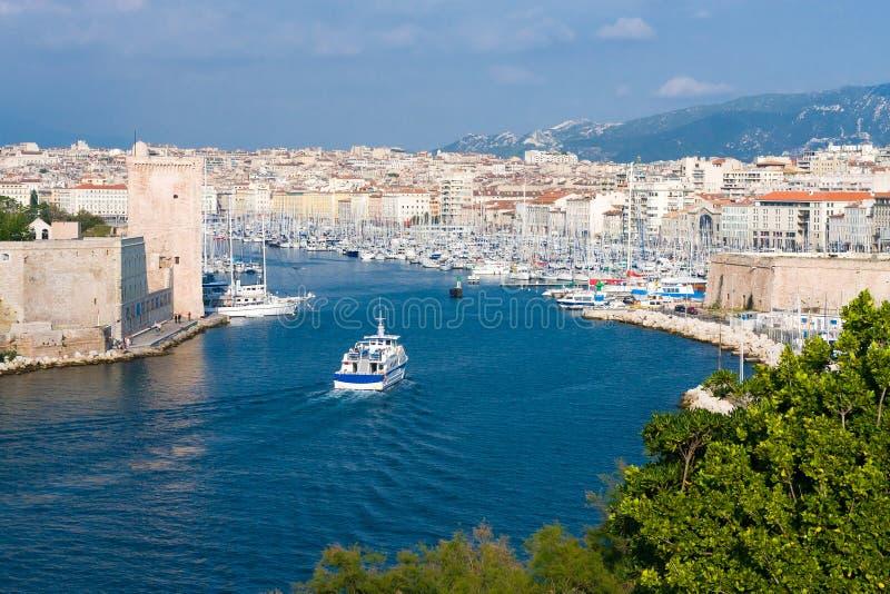 stary Marseille port obrazy stock