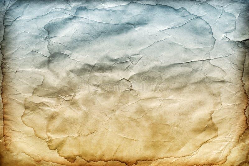 Stary marszczący pobrudzony papierowy tło lub tekstura zdjęcia stock