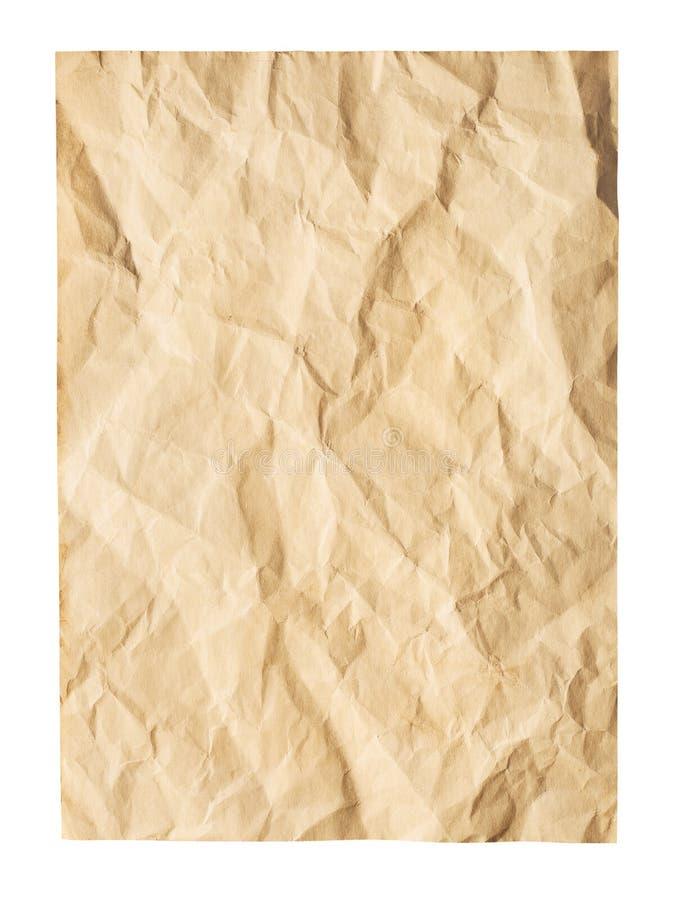 Download Stary marszczący papier obraz stock. Obraz złożonej z szorstki - 41952525