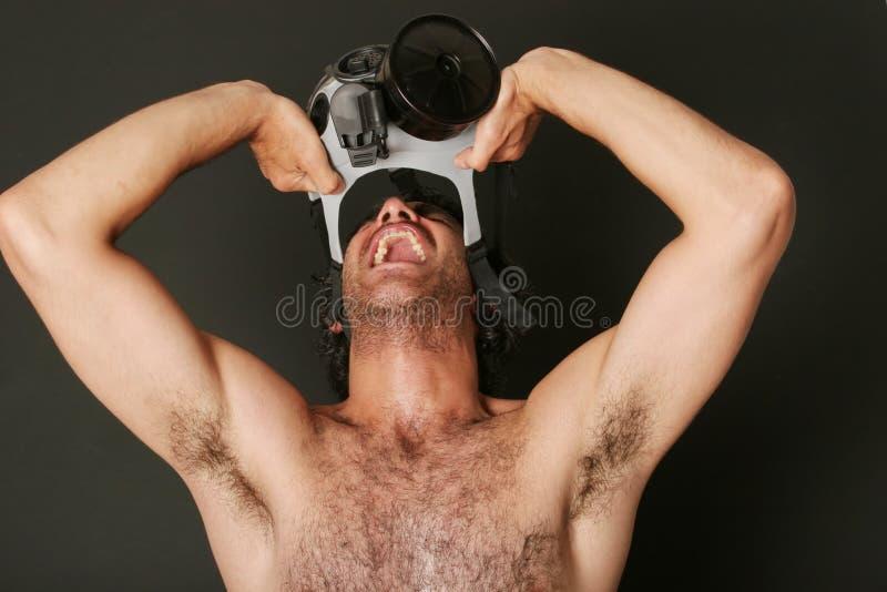 stary maska gazowa fotografia stock