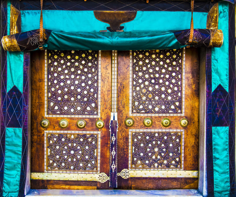 Stary meczetowy drzwi zdjęcie stock