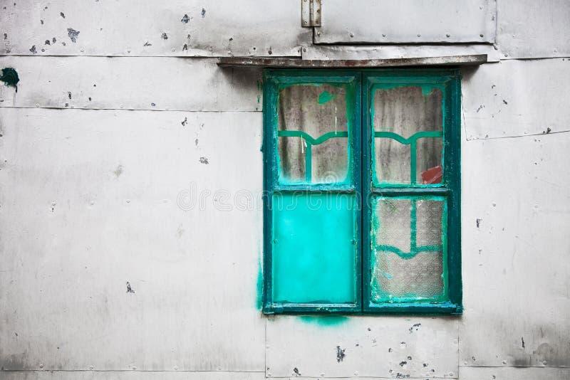Stary metalu okno zdjęcie royalty free