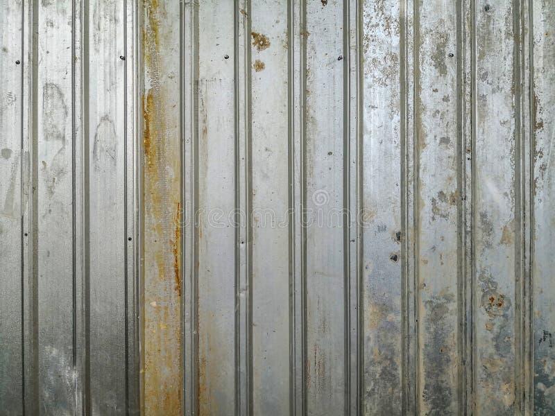 Stary metalu prześcieradło z rdzą i brudną materialną teksturą obrazy stock