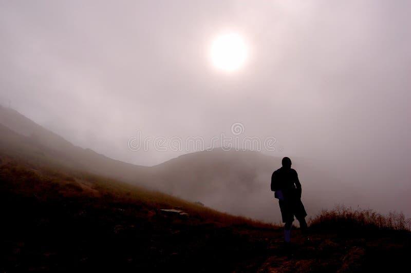 stary mgłowe góry obrazy stock