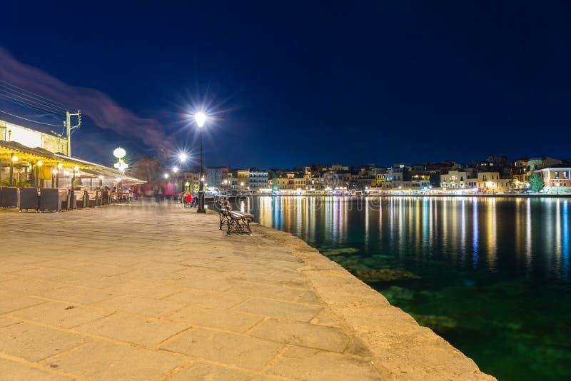 Download Stary Miasteczko Chania Miasto Przy Nocą, Crete Obraz Stock - Obraz złożonej z architektury, sceneria: 106915165