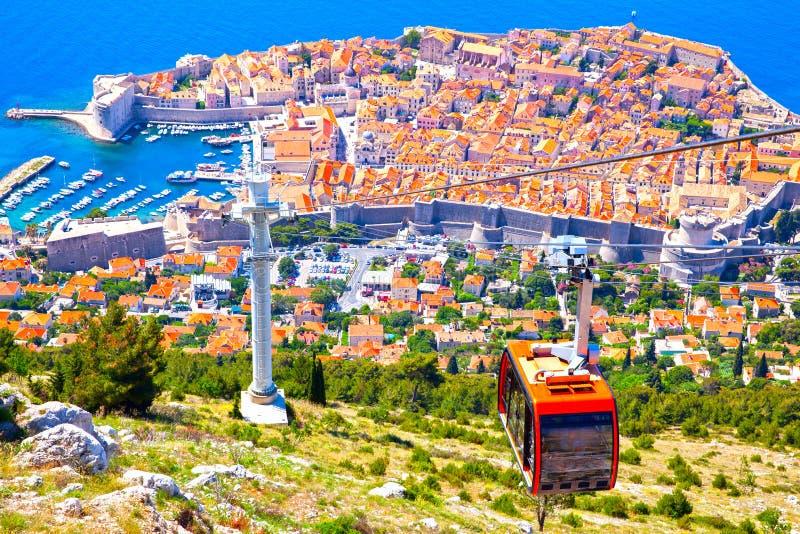 Stary miasteczko Dubrovnik od wzgórza zdjęcia royalty free