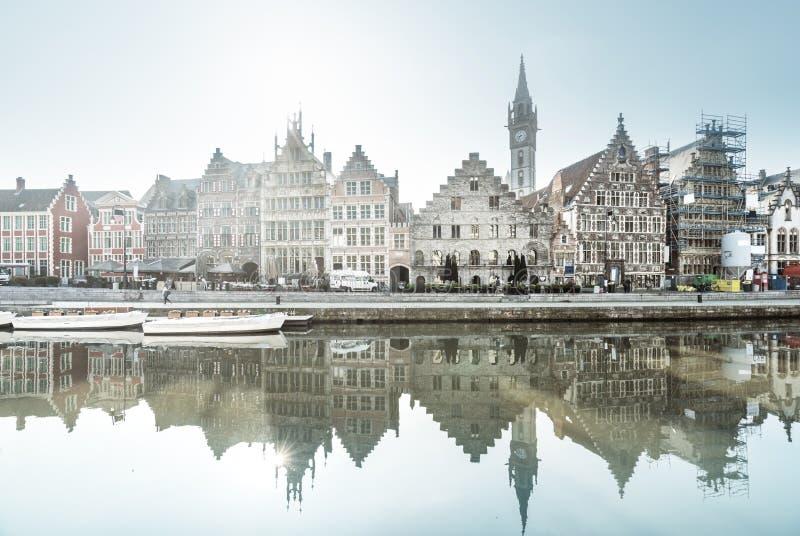 Stary miasteczko Ghent, Belgia obraz royalty free