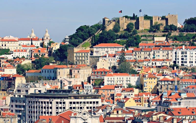 Stary miasteczko i kasztel Lisbon, Portugalia obrazy royalty free