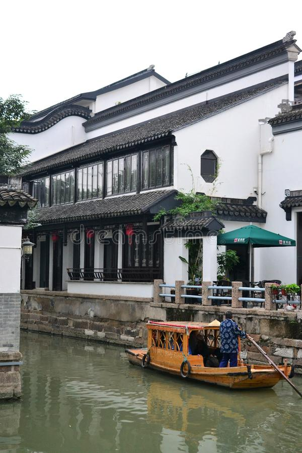 Stary miasteczko i ogródy Suzhou, Zhejiang, Chiny, chińczyka wodny miasteczko fotografia stock