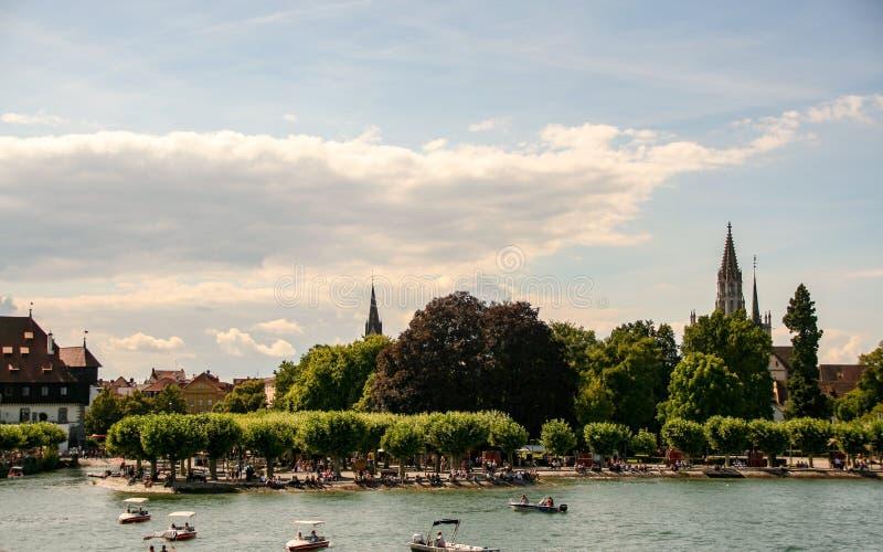 Stary miasteczko Konstanz na Constance jeziorze zdjęcia stock