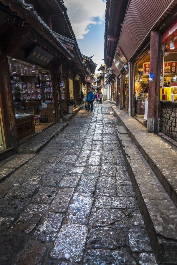 Stary miasteczko Lijiang, dziejowy miasteczko, Yunnan prowincja, Chiny fotografia royalty free