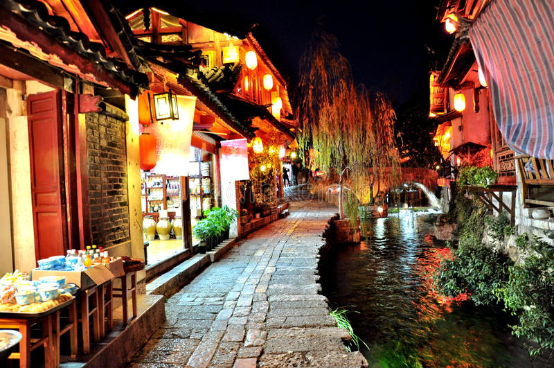 Stary miasteczko Lijiang zdjęcie stock
