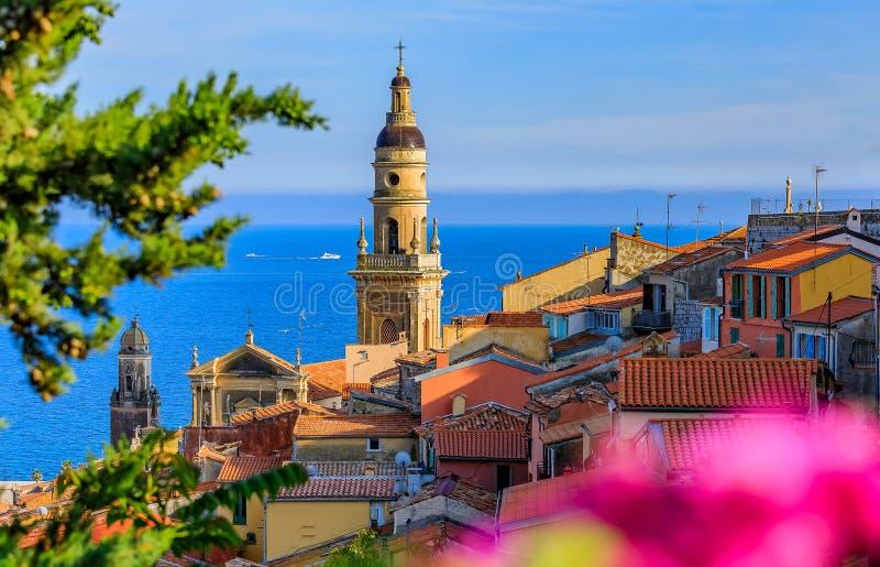 Stary miasteczko Menton na Francuskim Riviera obrazy royalty free