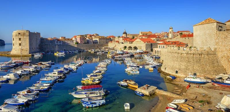 Stary miasteczko port Dubrovnik, Chorwacja zdjęcie stock