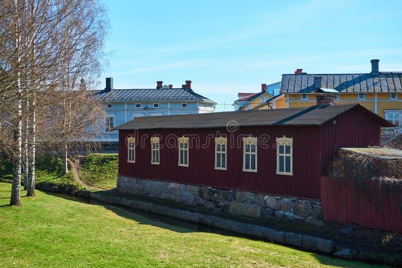 Stary miasteczko Rauma, Finlandia obraz stock